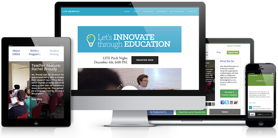 Let's Innovate Through Education Website Redesign & Management